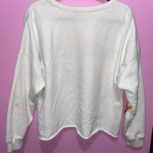 Abercrombie & Fitch Sweaters - Abercrombie White Cropped Sweater XL